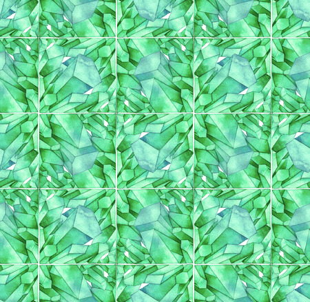 Watercolor crystals pattern