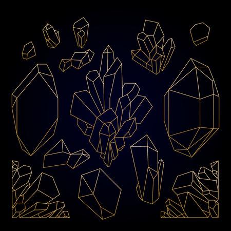 Graphic pastel crystals