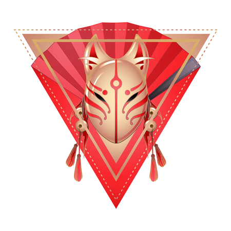 occultism: Japanese deamon fox mask