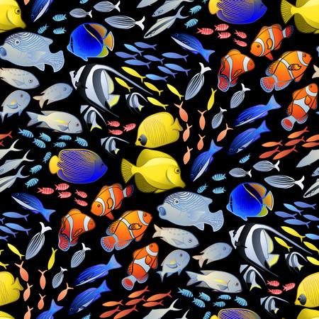 butterflyfish: Graphic ocean fish pattern
