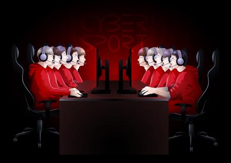 サイバー スポーツ チーム  イラスト・ベクター素材