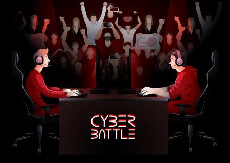 Quipe de cyber-sport Banque d'images - 74794470