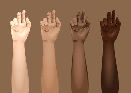 Plantillas de armas de mujer Ilustración de vector