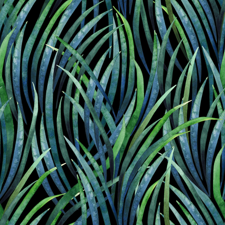 exotica: Watercolor tillandsia cyanea pattern