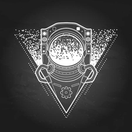 Graphic austronaut in triangle Illustration