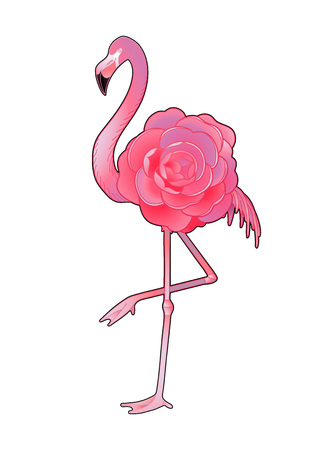 Cute graphic flamingo Illustration