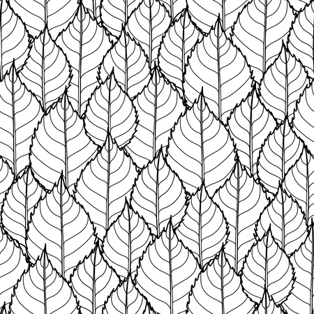 meditative: Graphic leaves pattern