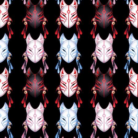Japanese deamon fox pattern