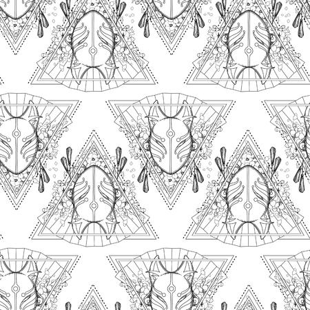 Graphic demon fox mask