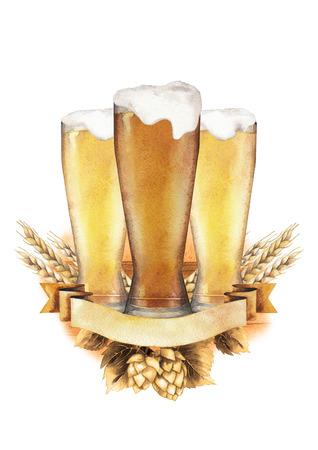 Watercolor beer design