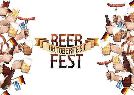 Watercolor octoberfest design