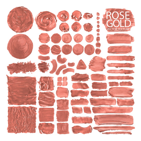 Collection of acrylic textures Illustration