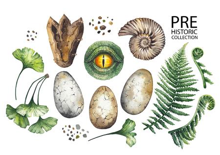 Watercolor prehistoric collection