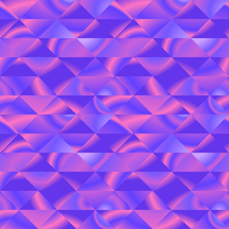 Graphic pattern with vivid violet triangles Stock Illustratie