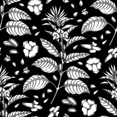 Graphic sesame pattern Illustration