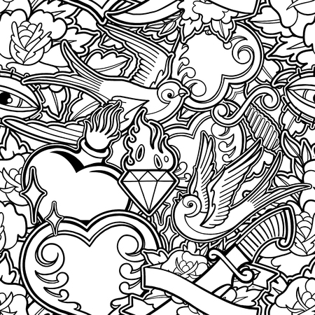 Graphic old school pattern