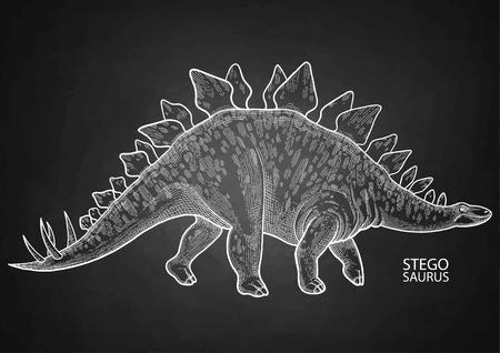 Realistic graphic dinosaur Illustration