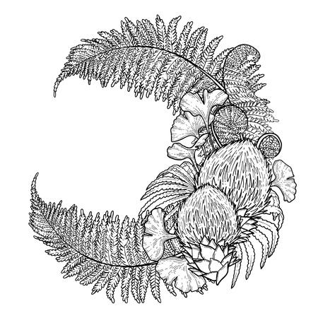 Graphic prehistoric plants