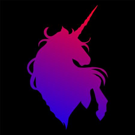 Graphic unicorn silhouette