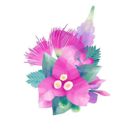 Gouache exotic floral design