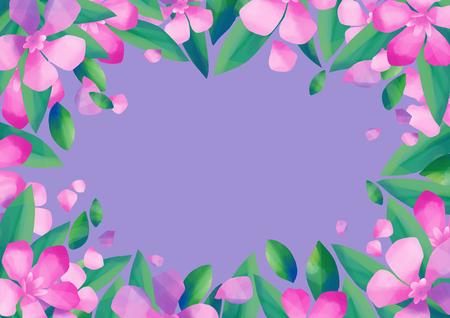 Pastel colored design with oleander flowers Stock Photo