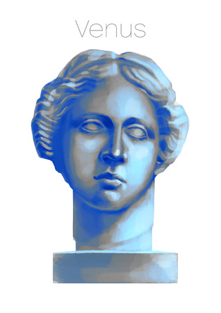 Venus de Milo head sculpture