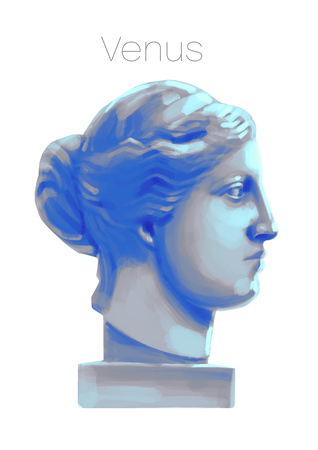 Venus de Milo head sculpture