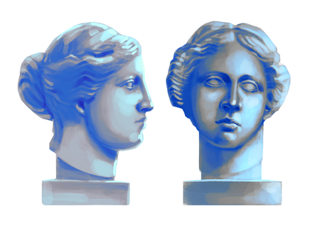 Venus de Milo head sculptures