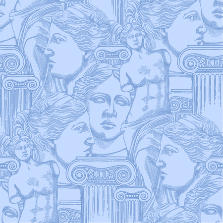 Classical pattern of Venus de Milo and columns Standard-Bild - 107807796