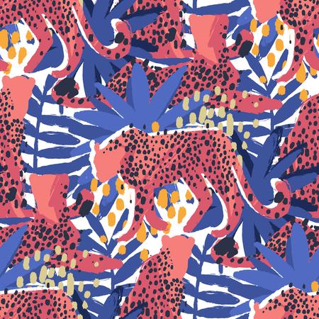 modelo del vector de nagas rodeado de plantas exóticas