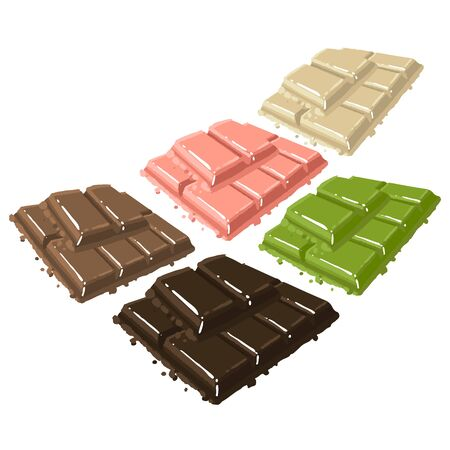 Vector collection of chocolate bars of different type. 向量圖像