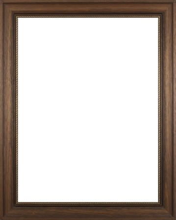 ornamental frames: Wooden frame for paintings or photographs. Stock Photo