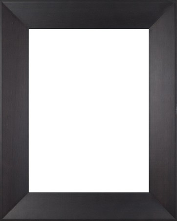 picture frame on wall: Wooden frame for paintings or photographs. Stock Photo