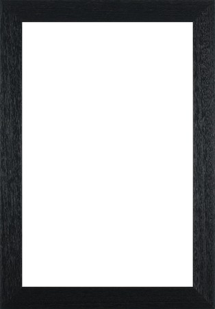 Wooden frame for paintings or photographs. Stock Photo