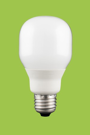 A light bulb isolated on a solid color background. photo