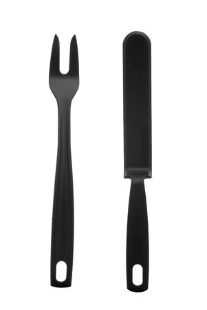 Set of two kitchen utensils isolated on white background. photo