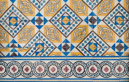 Detail of Portuguese glazed tiles. Stock Photo - 7293690