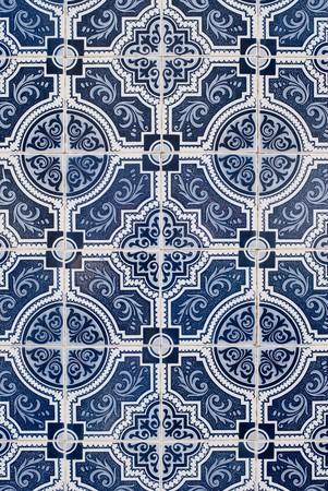 Detail of Portuguese glazed tiles. photo