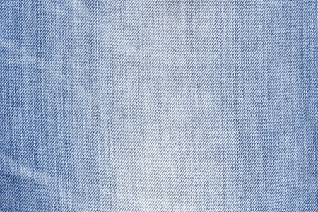 Blue demin detailed texture. Stock Photo