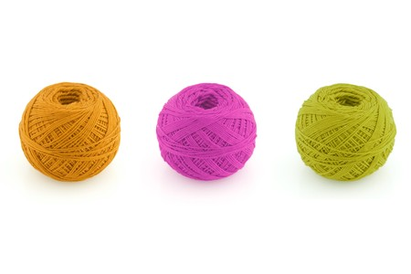 spools of many colors on a white background. Stock Photo - 7458589