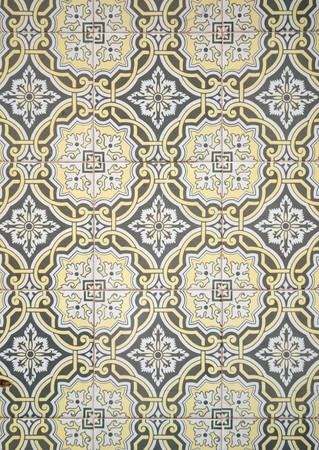 arabesque: Dettaglio di piastrelle smaltate portoghese.  Archivio Fotografico