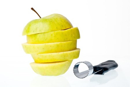 Sliced apple isolated on white background. Stock Photo - 7677516