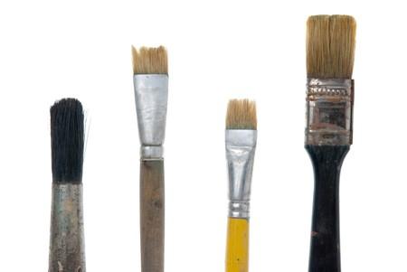 Paintbrushes isolated on white background. photo