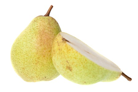 Pears isolated on a white background. photo