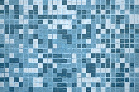 mosaic wall: Tile texture background of bathroom or swimming pool tiles on wall