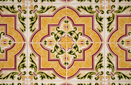 portuguese: Old traditional portuguese dacade tiles background.