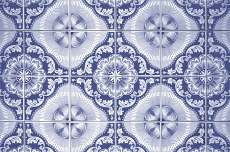 Ornamental old typical tiles from Portugal. photo