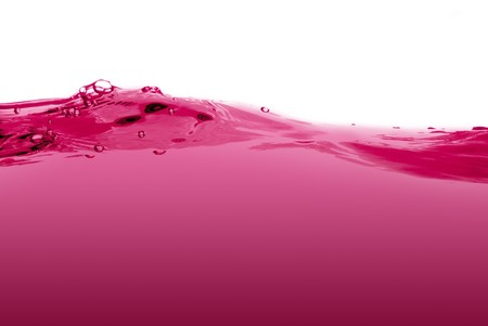 Pink liquid wave isolated on a white background. photo