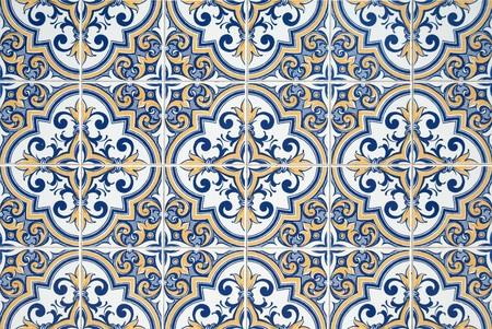 Traditional Portuguese azulejos - painted ceramic tilework. Stock Photo - 8223326
