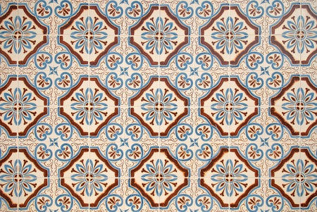 Colorful vintage spanish style ceramic tiles wall decoration. Stock Photo - 8774463